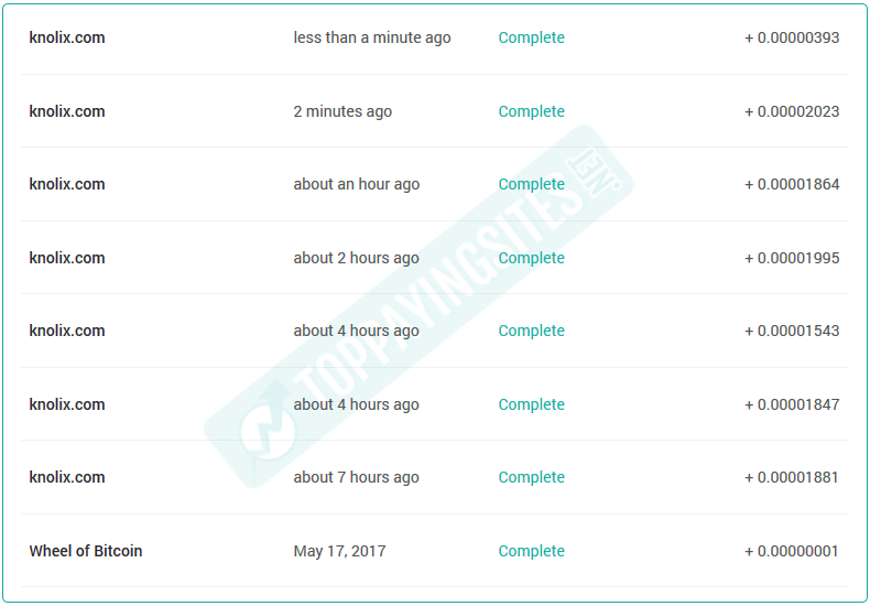knolix payment proof 18th May 2017