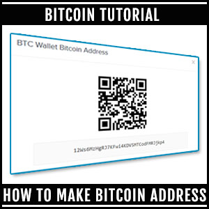 How to make bitcoin address [ Beginners Guide ]