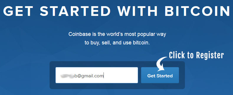 how to register on coinbase step1