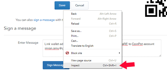 How do I sign a message with a bitcoin address2